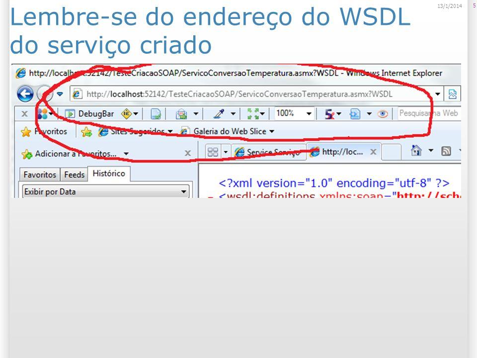 Criar ou selecionar o Workspace 6 13/1/2014