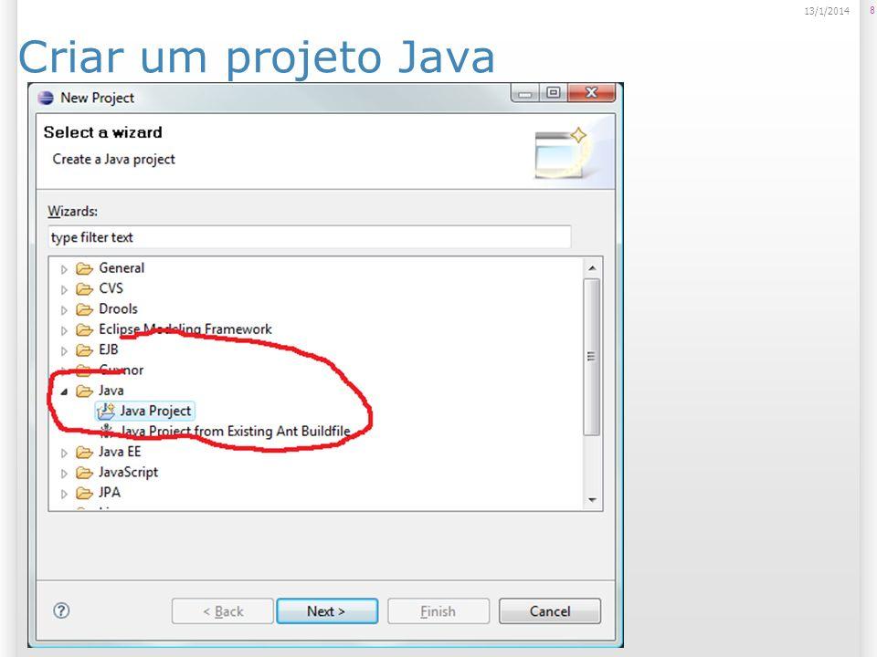 Criar um projeto Java 8 13/1/2014