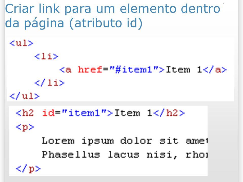 7 Criar link para um elemento dentro da página (atributo id)