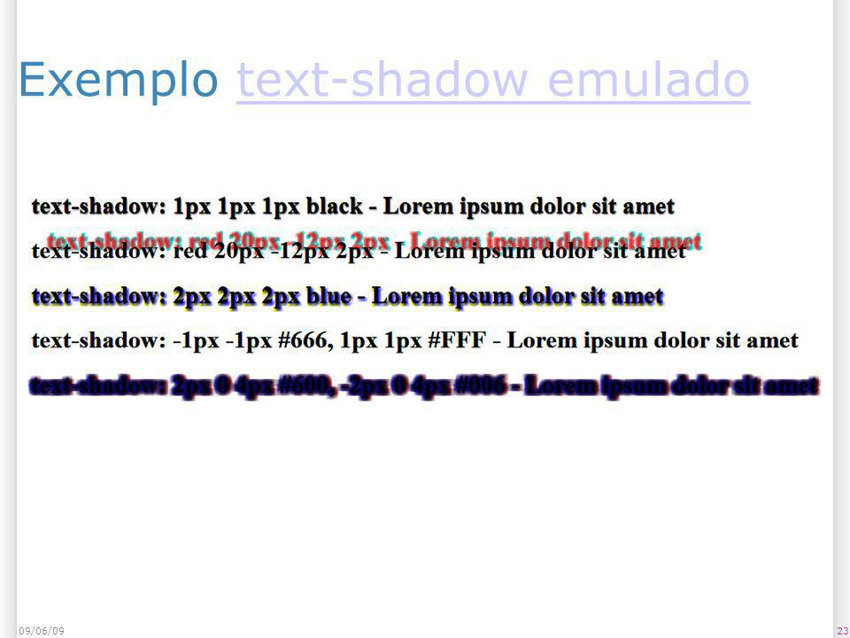 Exemplo text-shadow emuladotext-shadow emulado 09/06/0923