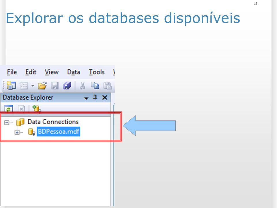 Explorar os databases disponíveis 19