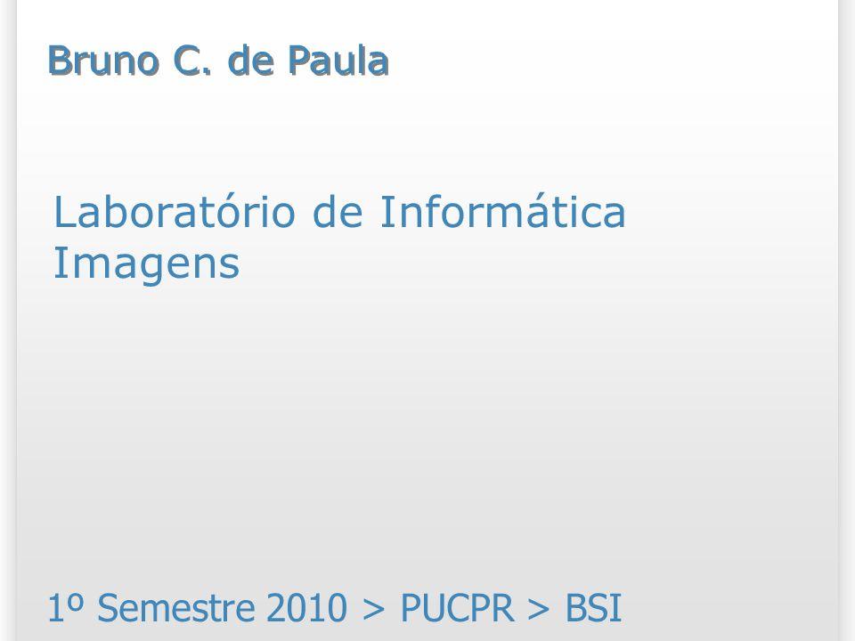 Laboratório de Informática Imagens 1º Semestre 2010 > PUCPR > BSI Bruno C. de Paula