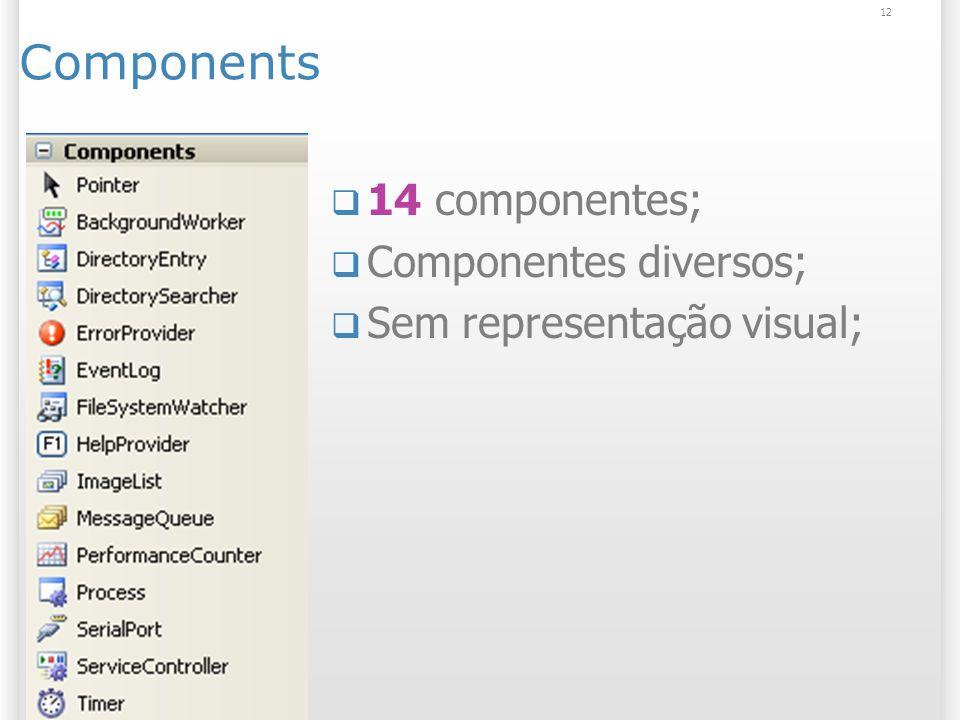 12 Components 14 componentes; Componentes diversos; Sem representação visual;
