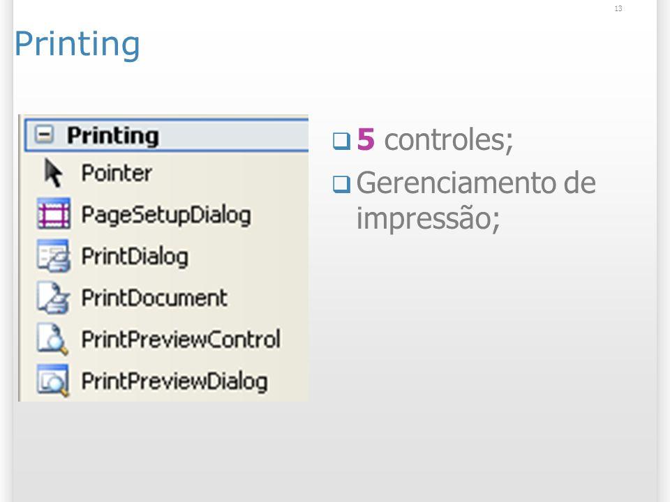 13 Printing 5 controles; Gerenciamento de impressão;