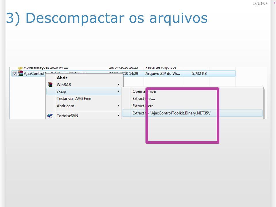 4) Criar um novo Web Site File > New Web Site 5 14/1/2014