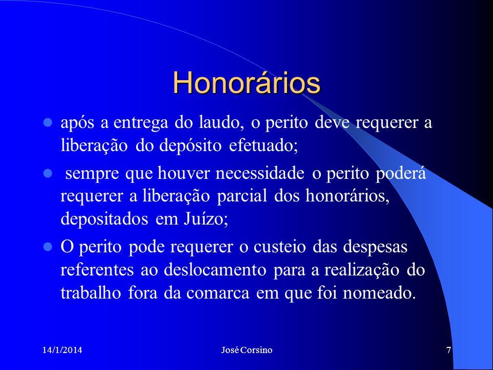 14/1/2014José Corsino6 Impugnação dos Honorários após a apresentação da proposta, é possível que a parte responsável pelo depósito,venha questioná-lo,