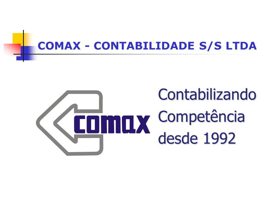 COMAX - CONTABILIDADE S/S LTDA ContabilizandoCompetência desde 1992