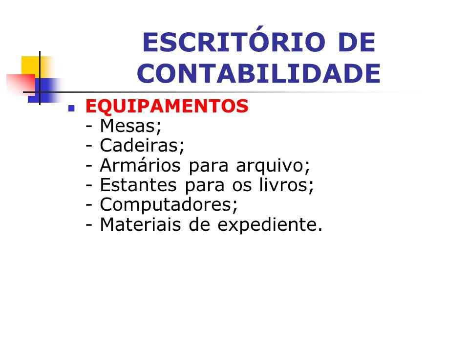 ESCRITÓRIO DE CONTABILIDADE ESTRUTURA É simples. Basta ter uma área mínima de 40 metros quadrados para disposição das mesas e cadeiras da equipe de tr