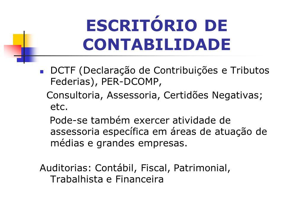 ESCRITÓRIO DE CONTABILIDADE - Outros: Aberturas, Transferência, Encerramento de Empresas, DIRPF, DIRPJ, DACON (Declaração de Apuração de Contribuições