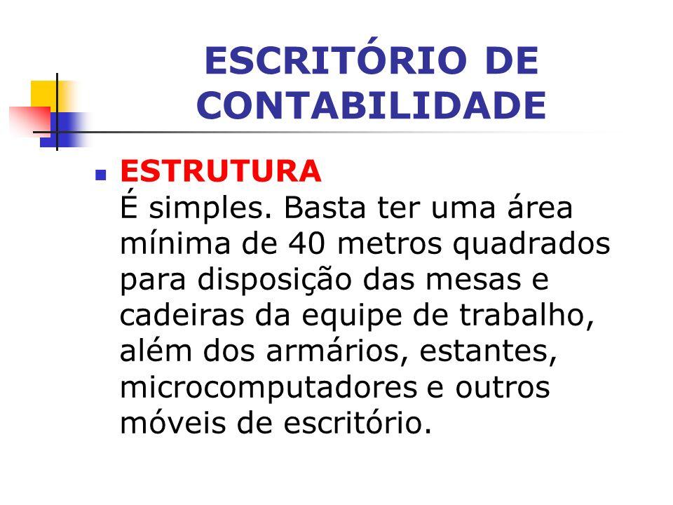 ESCRITÓRIO DE CONTABILIDADE ESTRUTURA É simples.