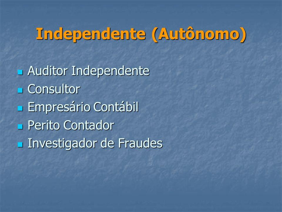 Na Empresa Planejador Tributário Planejador Tributário Analista Financeiro Analista Financeiro Contador Geral Contador Geral Auditor Interno Auditor I