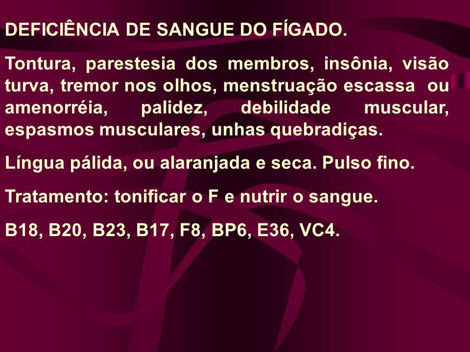 DEFICIÊNCIA DE SANGUE DO FÍGADO.