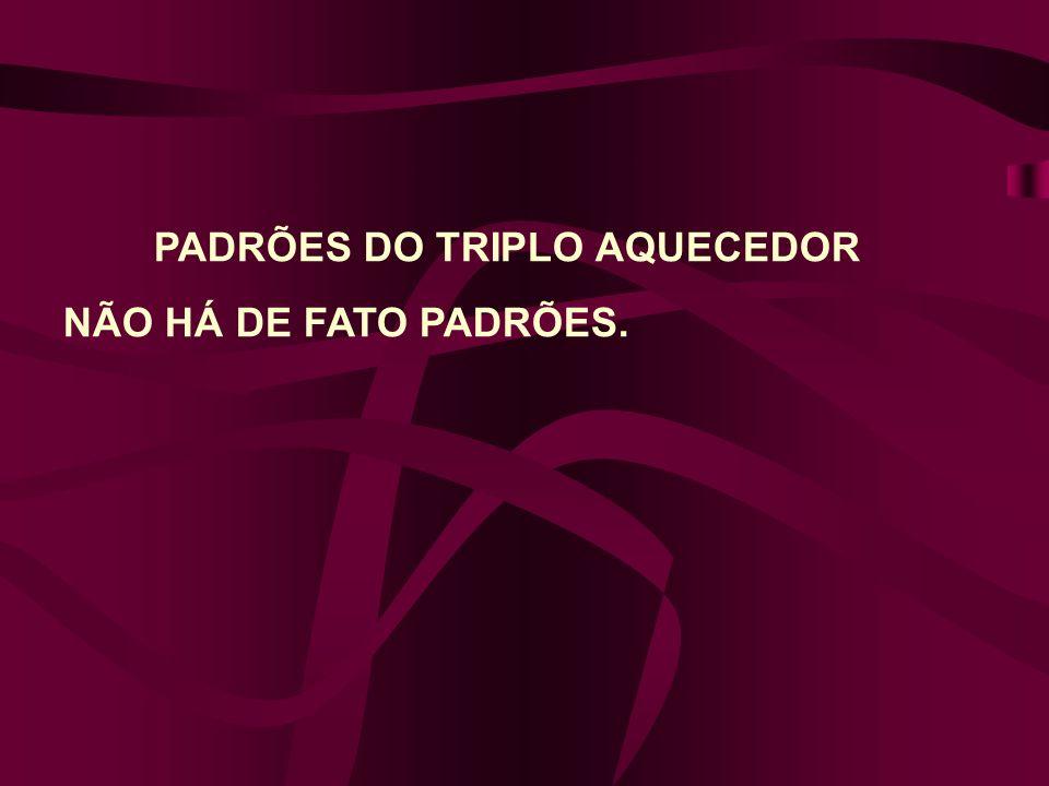 PADRÕES DO TRIPLO AQUECEDOR NÃO HÁ DE FATO PADRÕES.