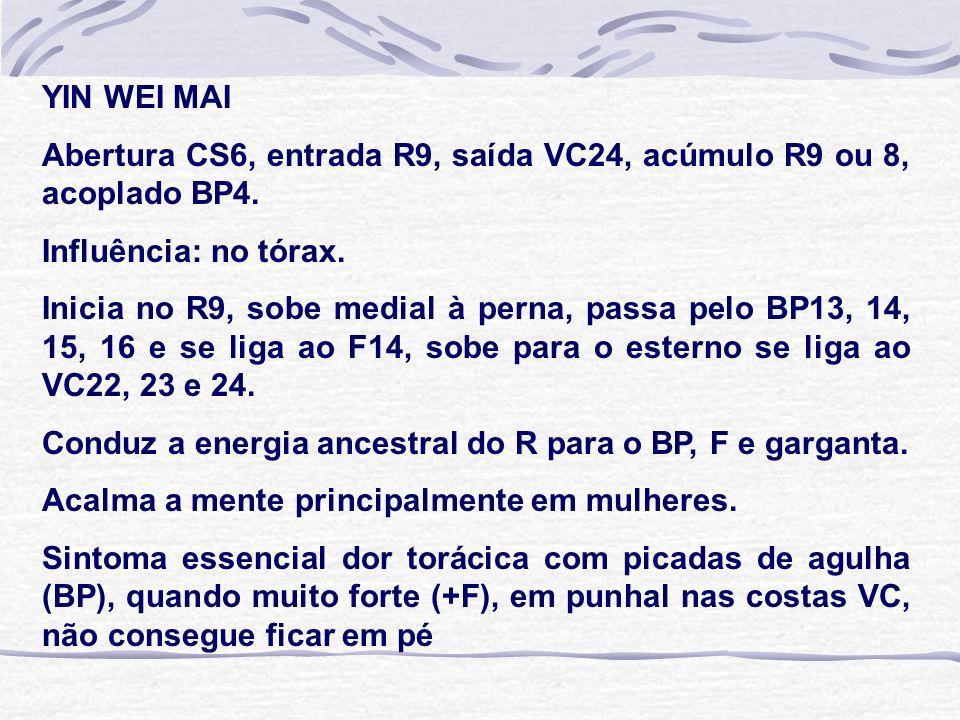 YIN WEI MAI Abertura CS6, entrada R9, saída VC24, acúmulo R9 ou 8, acoplado BP4.