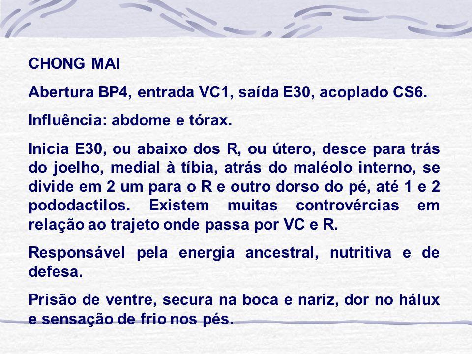 CHONG MAI Abertura BP4, entrada VC1, saída E30, acoplado CS6.