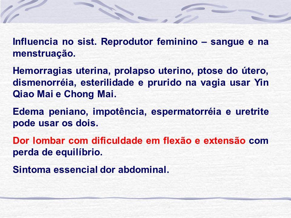 Influencia no sist.Reprodutor feminino – sangue e na menstruação.