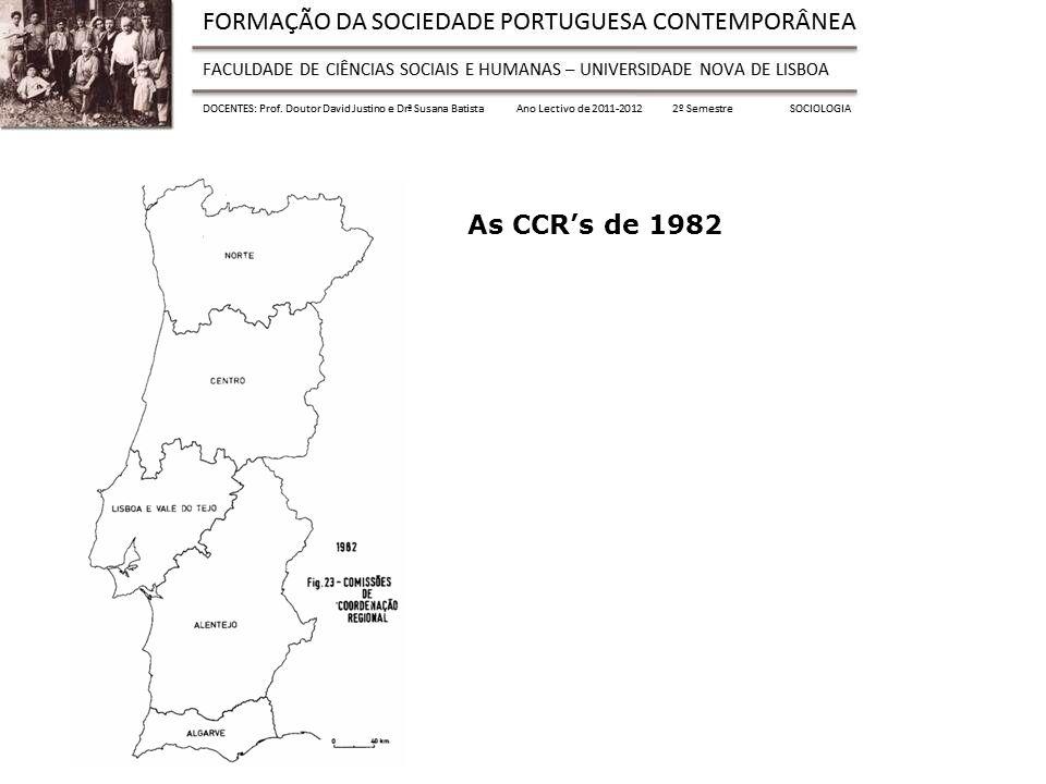 As CCRs de 1982