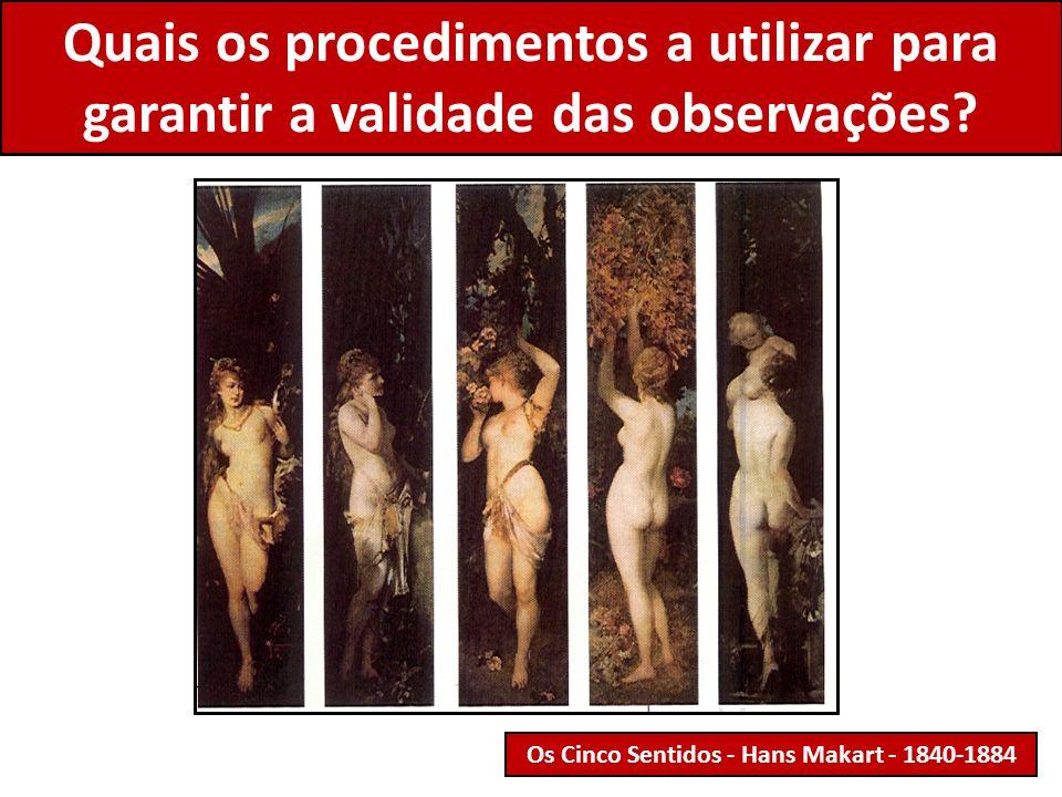 Quais os procedimentos a utilizar para garantir a validade das observações? Os Cinco Sentidos - Hans Makart - 1840-1884