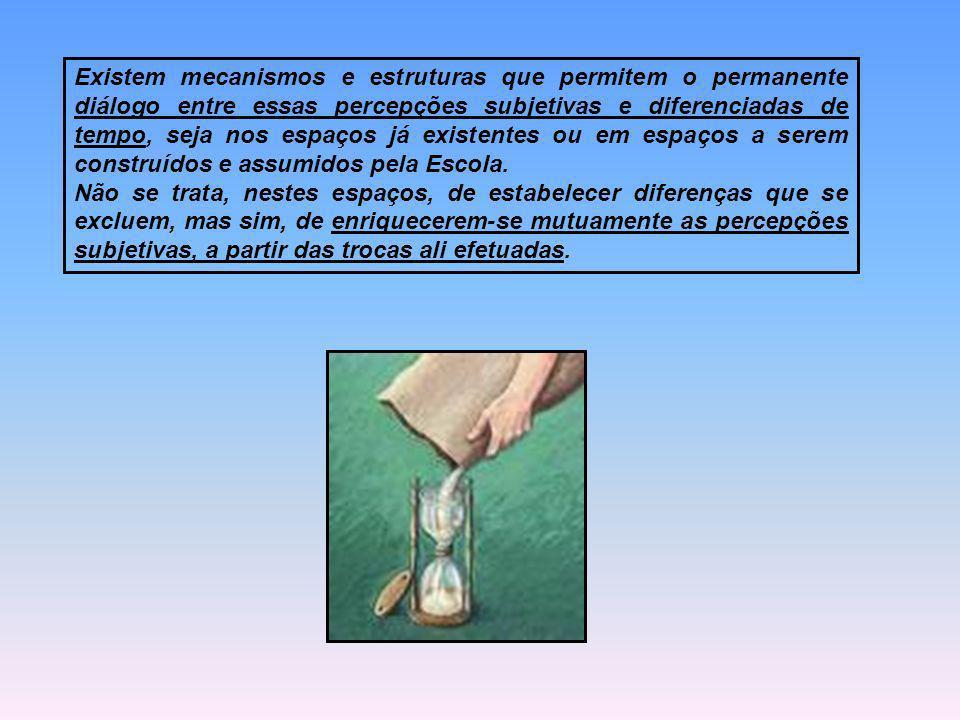 Existem mecanismos e estruturas que permitem o permanente diálogo entre essas percepções subjetivas e diferenciadas de tempo, seja nos espaços já exis