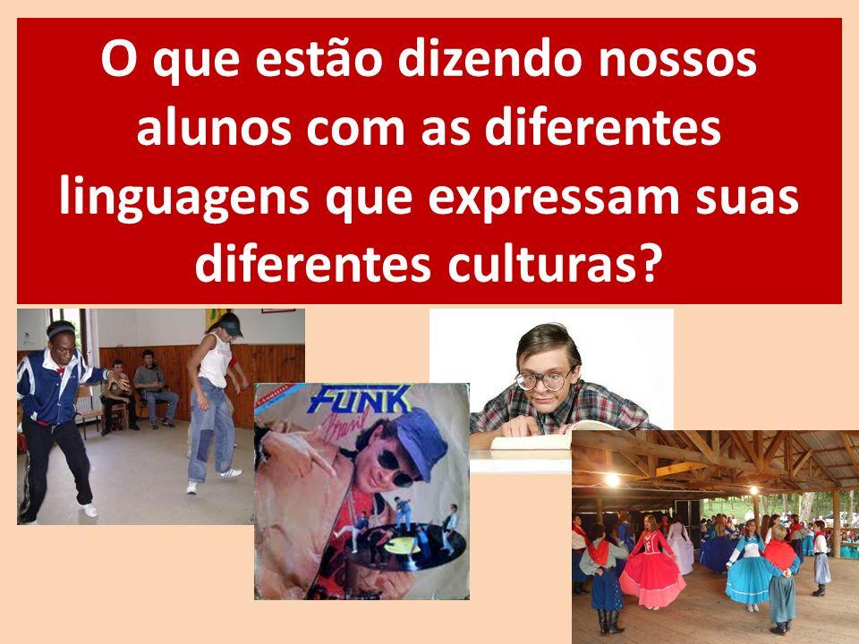 O que estão dizendo nossos alunos com as diferentes linguagens que expressam suas diferentes culturas?