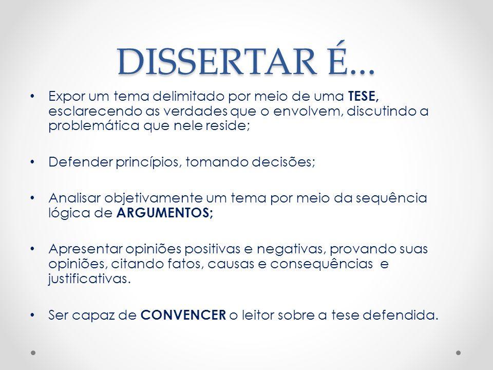 É preferível que a linguagem seja denotativa, O discurso deve ser impessoal, O texto deve ser: claro, simples e objetivo