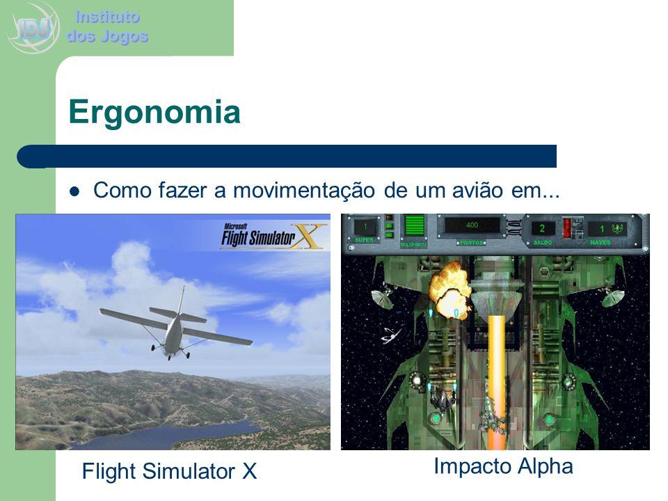 Ergonomia Como fazer a movimentação de um avião em... Flight Simulator X Impacto Alpha