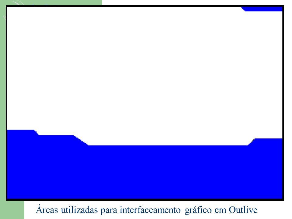 Áreas utilizadas para interfaceamento gráfico em Outlive