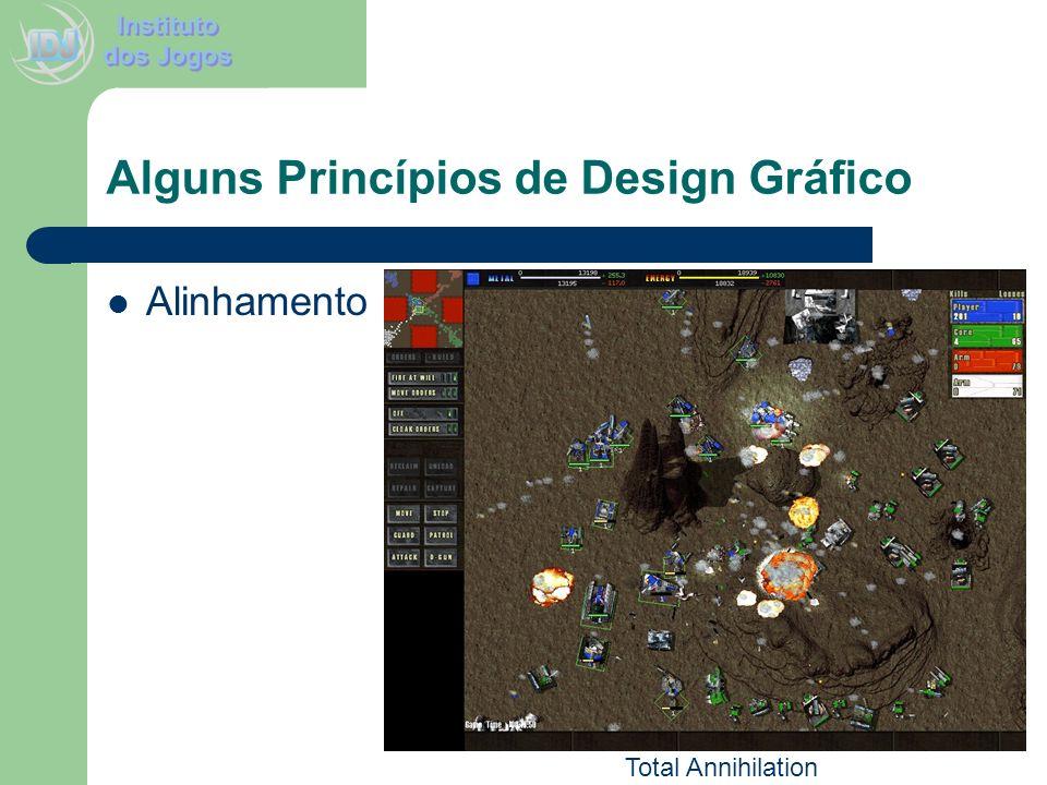 Alguns Princípios de Design Gráfico Alinhamento Total Annihilation