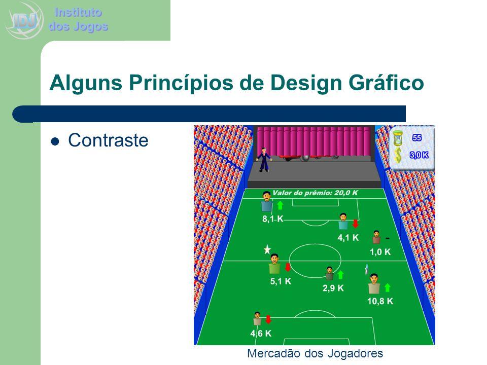Alguns Princípios de Design Gráfico Contraste Mercadão dos Jogadores