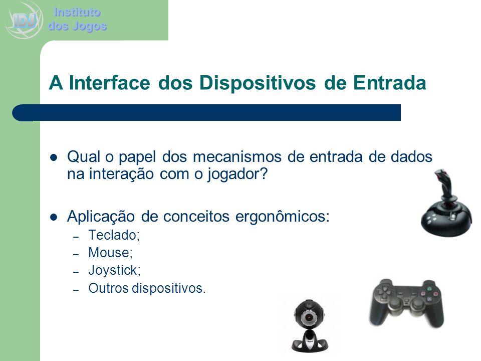 A Interface dos Dispositivos de Entrada Qual o papel dos mecanismos de entrada de dados na interação com o jogador? Aplicação de conceitos ergonômicos