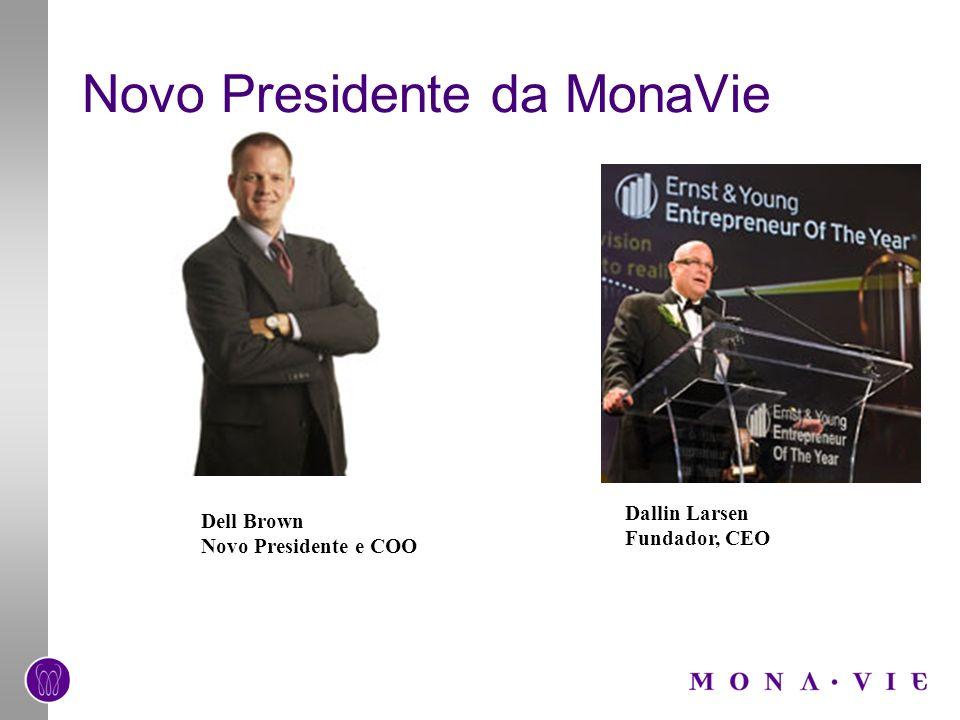 Novo Presidente da MonaVie Dell Brown Novo Presidente e COO Dallin Larsen Fundador, CEO