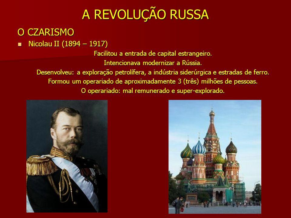 A REVOLUÇÃO RUSSA PARTIDOS POLÍTICOS Partido Operário Social-Democrata Russo (POSDR) Partido Operário Social-Democrata Russo (POSDR) - Orientação socialista.