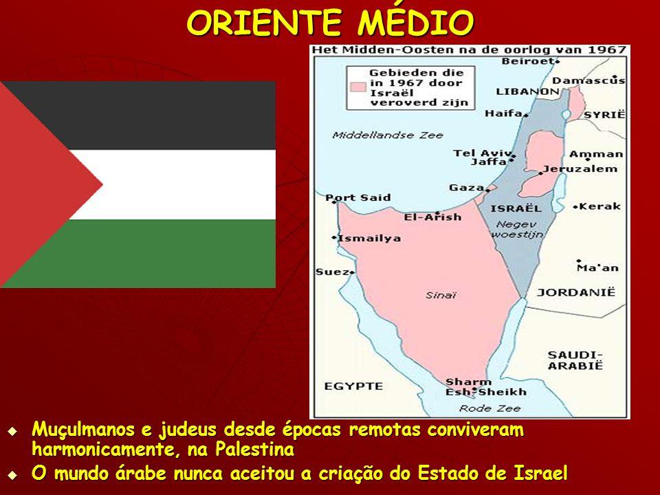 ORIENTE MÉDIO Muçulmanos e judeus desde épocas remotas conviveram harmonicamente, na Palestina Muçulmanos e judeus desde épocas remotas conviveram har