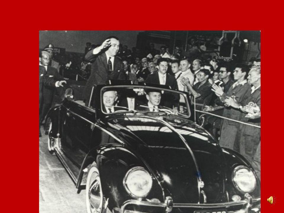 REPÚBLICA DEMOCRÁTICA JK (1955 – 1961) Endividamento externo Tentativas de golpe: Aragarças e Jacareacanga Inflação Greves Rompimento com o FMI