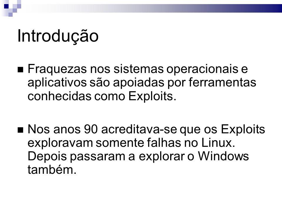 Incidentes famosos Microsoft Windows DCOM RPC Interface Buffer Overrun Vulnerability Exploits usando arquivos WMF Google Chrome ataque DOS remoto