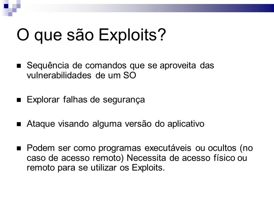 Como atuam os Exploits.Exemplo de como os Exploits funcionam usando uma falha do RPC no Windows.