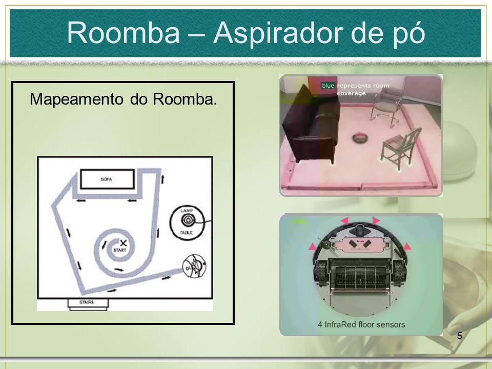 5 Roomba – Aspirador de pó Mapeamento do Roomba.