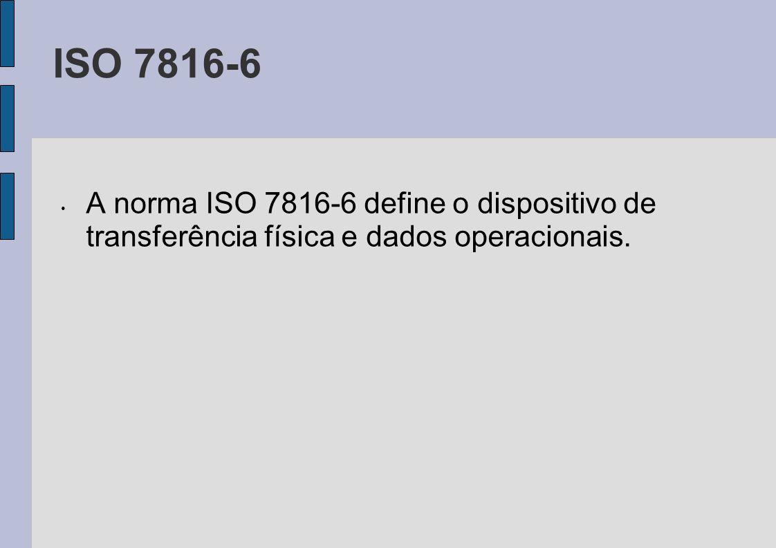 ISO 7816-6 A norma ISO 7816-6 define o dispositivo de transferência física e dados operacionais.