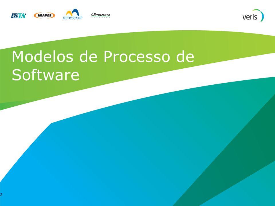 13 Modelos de Processo de Software Escolher algum dos modelos envolve analisar e avaliar : Estratégia de desenvolvimento Necessidades de entrega Recursos disponíveis Riscos do projeto/tecnologia Interação dos usuários e desenvolvedores Conhecimento dos desenvolvedores sobre negócio e tecnologia