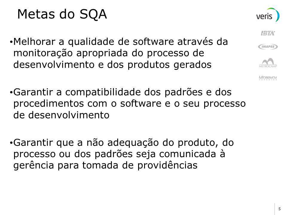 4 Papel do SQA O papel do SQA é monitorar como a equipe de desenvolvimento de software realiza as suas atividades A equipe de desenvolvimento de softw
