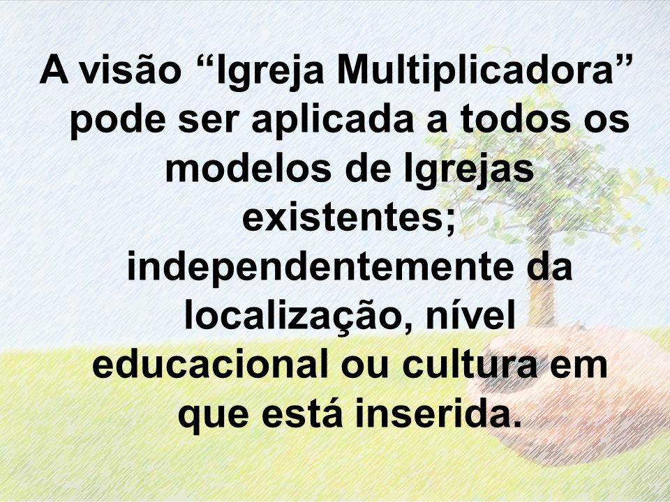 A visão Igreja Multiplicadora pode ser aplicada a todos os modelos de Igrejas existentes; independentemente da localização, nível educacional ou cultu