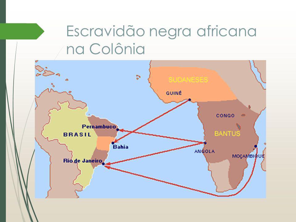 Escravidão negra africana na Colônia