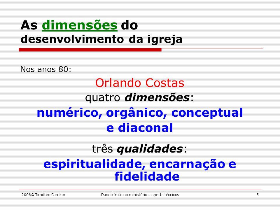 2006@ Timóteo CarrikerDando fruto no ministério: aspects técnicos16 Os ministérios de evangelização Proclamação (kerygma) no mundo Onde.