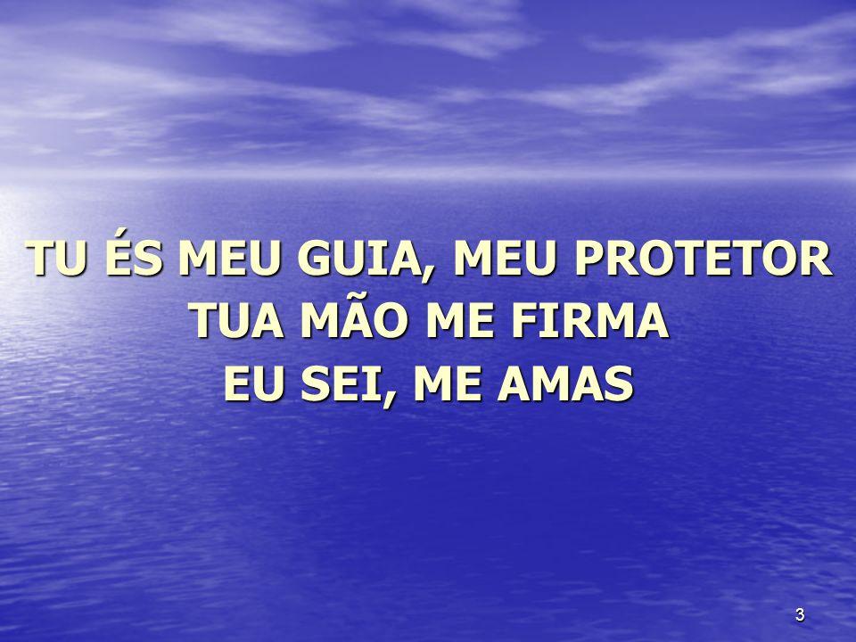 3 TU ÉS MEU GUIA, MEU PROTETOR TUA MÃO ME FIRMA EU SEI, ME AMAS