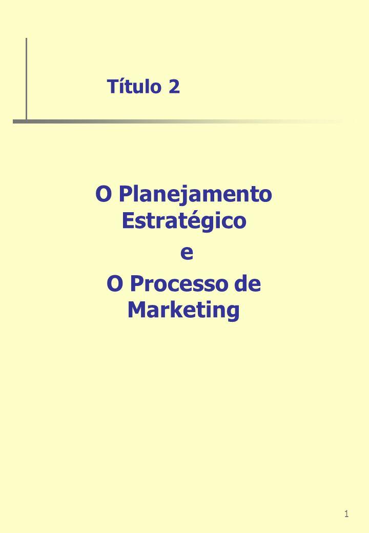 1 Título 2 O Planejamento Estratégico e O Processo de Marketing
