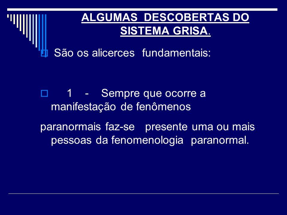 ALGUMAS DESCOBERTAS DO SISTEMA GRISA.