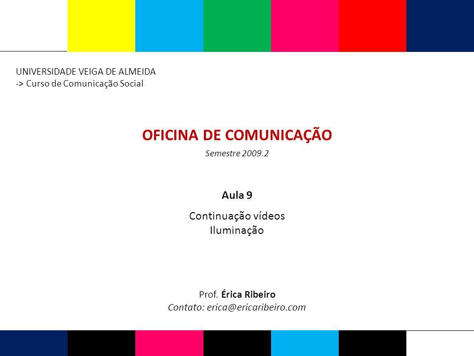 ILUMINAÇÃO 2009.2 Ferramenta essencial para o vídeo.