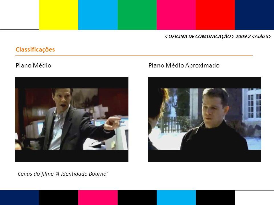 2009.2 Classificações Plano MédioPlano Médio Aproximado Cenas do filme A Identidade Bourne