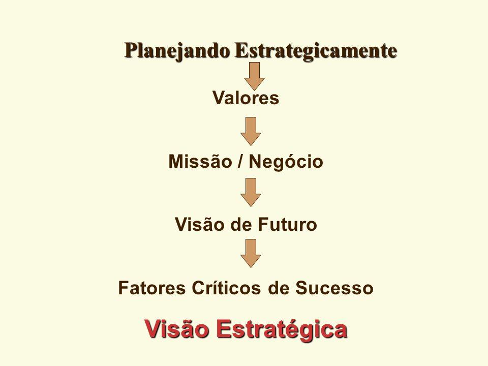 Indicadores Estratégicos 4 Informação do quanto a organização se encontra na direção da consecução de sua Visão.