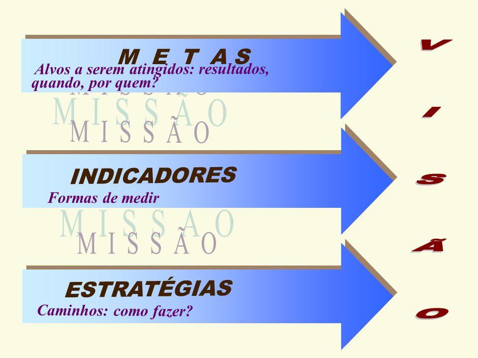 Valores Missão / Negócio Visão de Futuro Fatores Críticos de Sucesso Visão Estratégica Planejando Estrategicamente